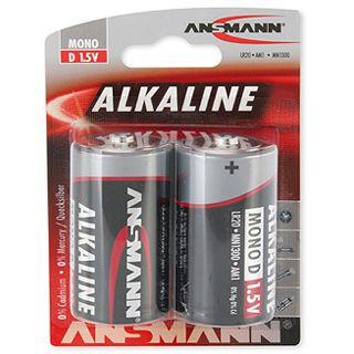 ANSMANN Red-Line LR20 Alkaline D Mono Batterie 1.5 V 2er Pack