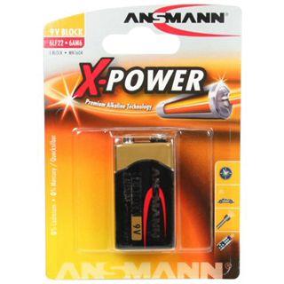 ANSMANN X-Power 9V / E Block Alkaline 9.0 V 1er Pack