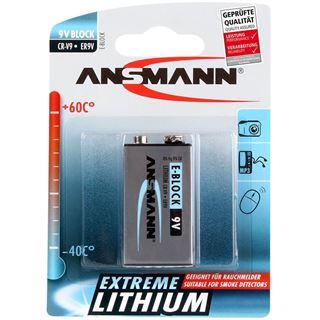 ANSMANN Extreme Lithium 6LR61 Lithium E Block Batterie 9.0 V 1er Pack