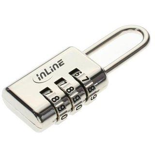 InLine Sicherheitsschloss, , mit 3-fach Zahlenkombination Metal