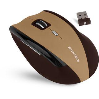 Soyntec Maus INPPUT R520 BROWNIE, Funk, optisch, USB