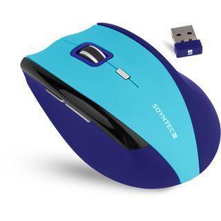 Soyntec Maus INPPUT R520 BLUE, Funk, optisch, USB