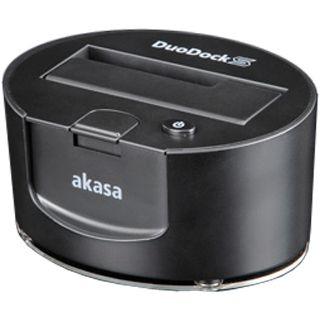 """Akasa DuoDock S schwarz Dockingstation für 2.5"""" und 3.5"""" Festplatten (AK-IC08U3-BKEU)"""