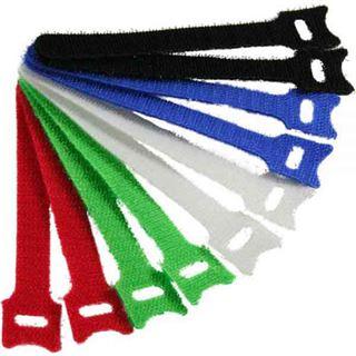 InLine Kabelbinder 12x200mm, Klett-Verschluss, 10er, 5 versch. Farben