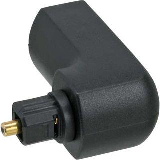 InLine OPTO Audio Adapter, , Toslink Buchse / Stecker, 90° gewinkelt