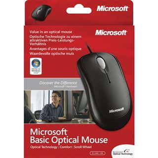 Microsoft OEM Basic PS/2 & USB schwarz (kabelgebunden)