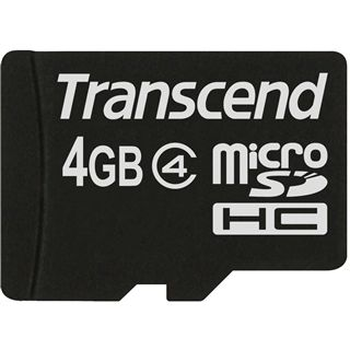 4 GB Transcend Standard microSDHC Class 4 Retail