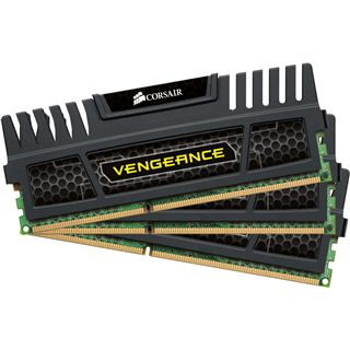 6GB Corsair Vengeance Black DDR3-1600 DIMM CL8 Tri Kit
