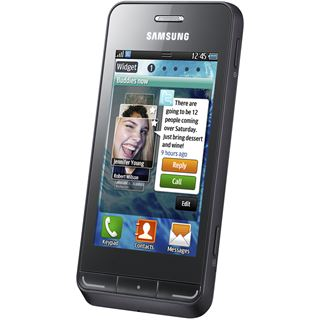 Samsung Smartphone Wave 723 metallic S7230 black
