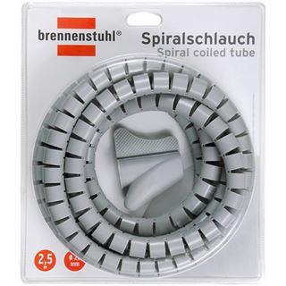 (€3,96*/1m) Brennenstuhl 2.50m Spiralschlauch 20mm Grau
