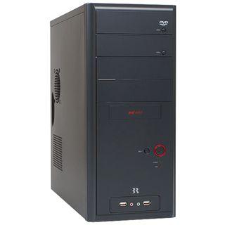 3R Systems K400 gedaemmt Midi Tower ohne Netzteil schwarz