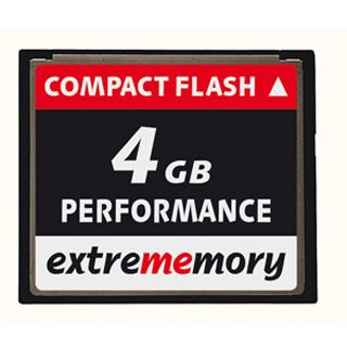 4 GB Extrememory Performance Compact Flash TypI 120x Bulk