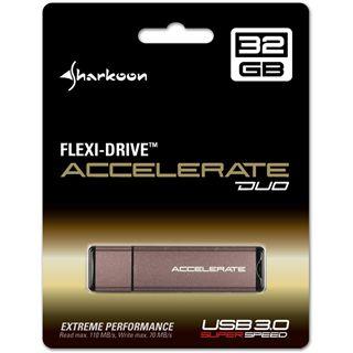 64 GB Sharkoon Flexi-Drive Accelerate Duo braun USB 3.0