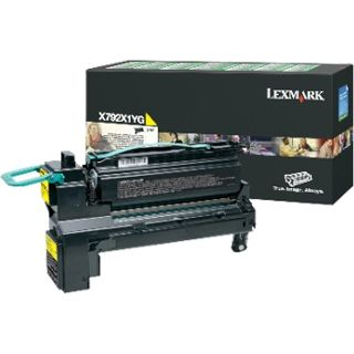 Lexmark Toner gelb Rück X792