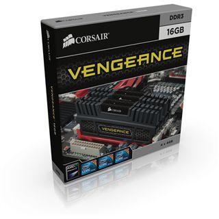 16GB Corsair Vengeance schwarz DDR3-1600 DIMM CL9 Quad Kit