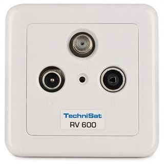 TechniSat Antennensteckdose Technipro 600-10 Koax Stecker + Koax Buchse auf