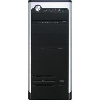 Inter-Tech Redeye AOC-7740 Midi Tower 500 Watt schwarz/silber