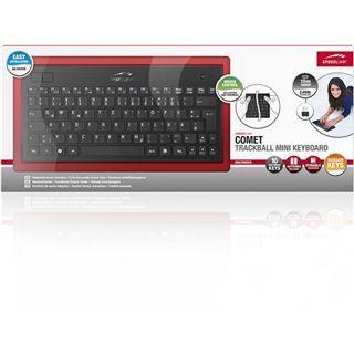 Speedlink Tastatur Comet Trackball mini, black
