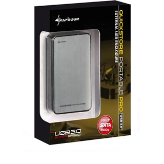 "Sharkoon QuickStore Portable Pro 2.5"" (6,35cm) USB 3.0 silber"