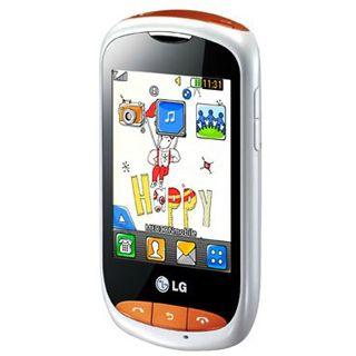 LG Electronics T310 Cookie Style white & orange