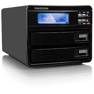 "2x3,5""(8,89cm) Icy Box Raidon Sata 2xFireW 2x3,5""(8,89cm)Sata schwarz GR3630-2S-WBS2"