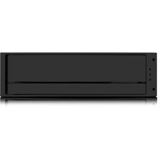 "ICY BOX IS1010-2S-S2B 5.25"" (13,34cm) SATA schwarz/silber"
