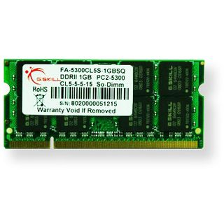 1GB G.Skill SQ Series DDR2-667 SO-DIMM CL5 Single