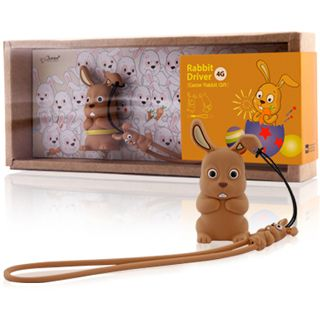 4 GB Bone Rabbit Driver Easter Set braun USB 2.0
