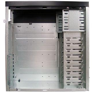 Codegen 3332-CA Midi Tower ohne Netzteil schwarz/silber
