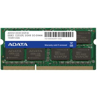 2GB ADATA Supreme Series DDR3-1333 SO-DIMM CL9 Single