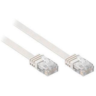1.00m Good Connections Cat. 6 Patchkabel flach UTP RJ45 Stecker auf RJ45 Stecker Grau