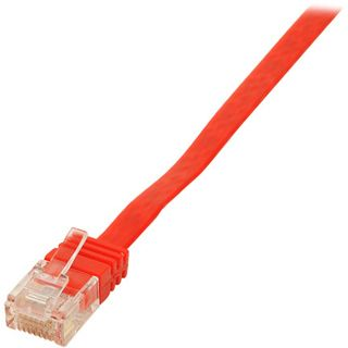 5.00m Good Connections Cat. 6 Patchkabel flach UTP RJ45 Stecker auf RJ45 Stecker Rot