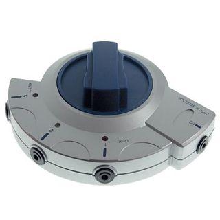 Good Connections Audio Adapterkabel Toslink 3.5mm Buchse auf 3xToslink 3.5mm Buchse Silber Umschalter