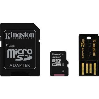 32 GB Kingston Multi Kit microSDHC Class 4 Retail inkl. Adapter