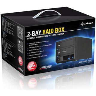 """Sharkoon Raid Box USB3.0 2Bay 3,5"""" (8,9cm)"""