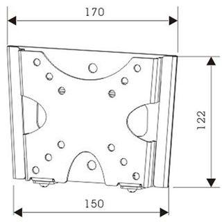 """InLine Wandhalterung, , für LCD/LED/Plasma, 25-81cm (10-32""""), max. 25kg"""
