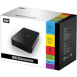 "3000GB WD Elements Desktop WDBAAU0030HBK-EESN 3.5"" (8.9cm) USB 2.0 schwarz"