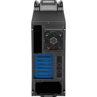 AeroCool XWarrior Midi Tower ohne Netzteil schwarz/blau