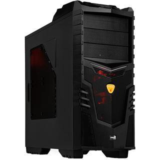 AeroCool X-Warrior Devil Red Edition Midi Tower ohne Netzteil schwarz/rot