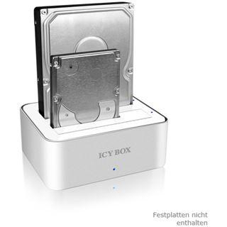 """ICY BOX IB-120StU3-Wh Dual SATA Dockingstation für 2.5"""" und 3.5"""" Festplatten (20900)"""