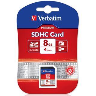 8 GB Verbatim Standard SDHC Class 10 Bulk