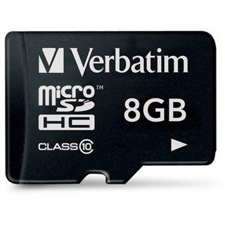 8 GB Verbatim Standard microSDHC Class 10 Retail
