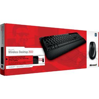 Microsoft Wireless Desktop 2000 Deutsch USB schwarz