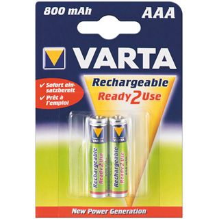 Varta® Akku (READY 2 USE) Ni-MH Micro (AAA) 1,2V 800mA (56703), 2er Pack in Blister