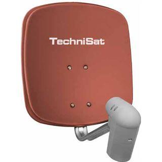 TechniSat DigiDish 45 + Twin LNB ziegelrot