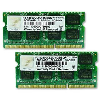 8GB G.Skill SQ Series DDR3-1600 SO-DIMM CL9 Dual Kit