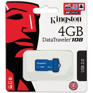 4 GB Kingston DataTraveler 108 blau USB 2.0