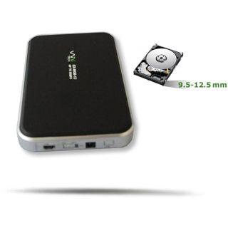 "WinTech EX-MOB-12 2.5"" (6,35cm) USB 2.0 schwarz/silber"