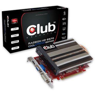 1GB Club 3D Radeon HD 6570 CoolStream Edition Passiv PCIe 2.1 x16 (Retail)