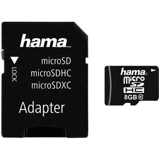 8 GB Hama Standard microSDHC Class 10 Retail inkl. Adapter